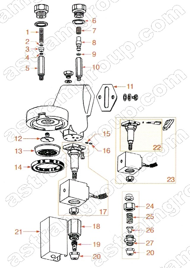 franke espresso machine parts